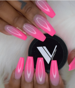 Pink Ombre nail designs for the summer