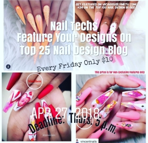 Feature your nail designs next week