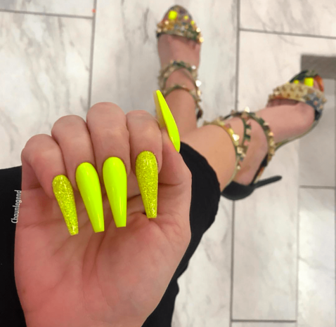 Yellow nail designs for summer
