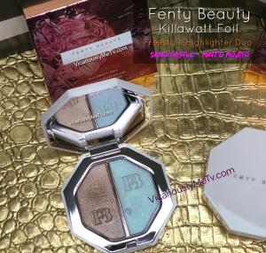 Fenty Killawatta Freestyle Highlighter Duo Sand Castle and Mint'd Mojito